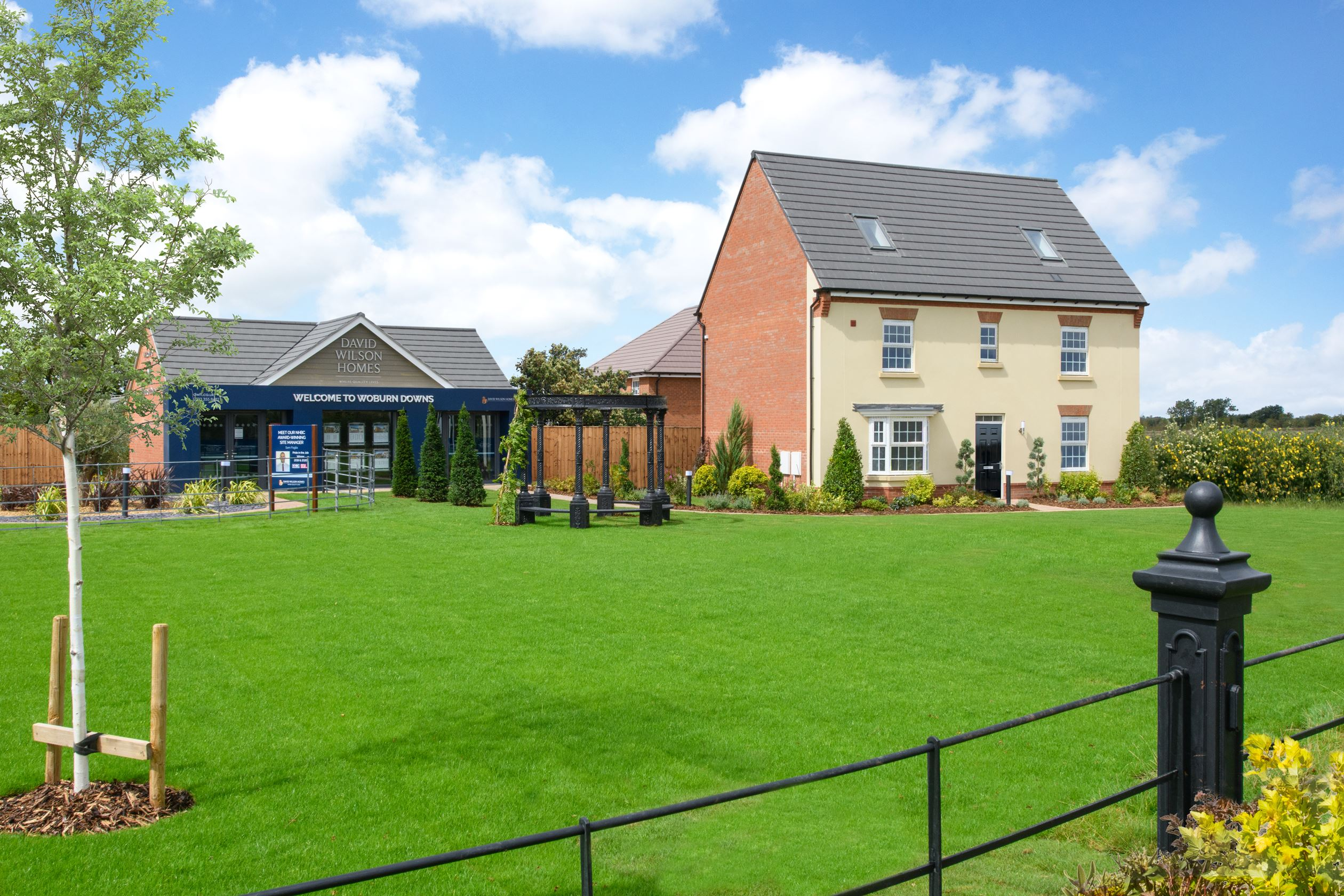 Sales office and The Moreton show home