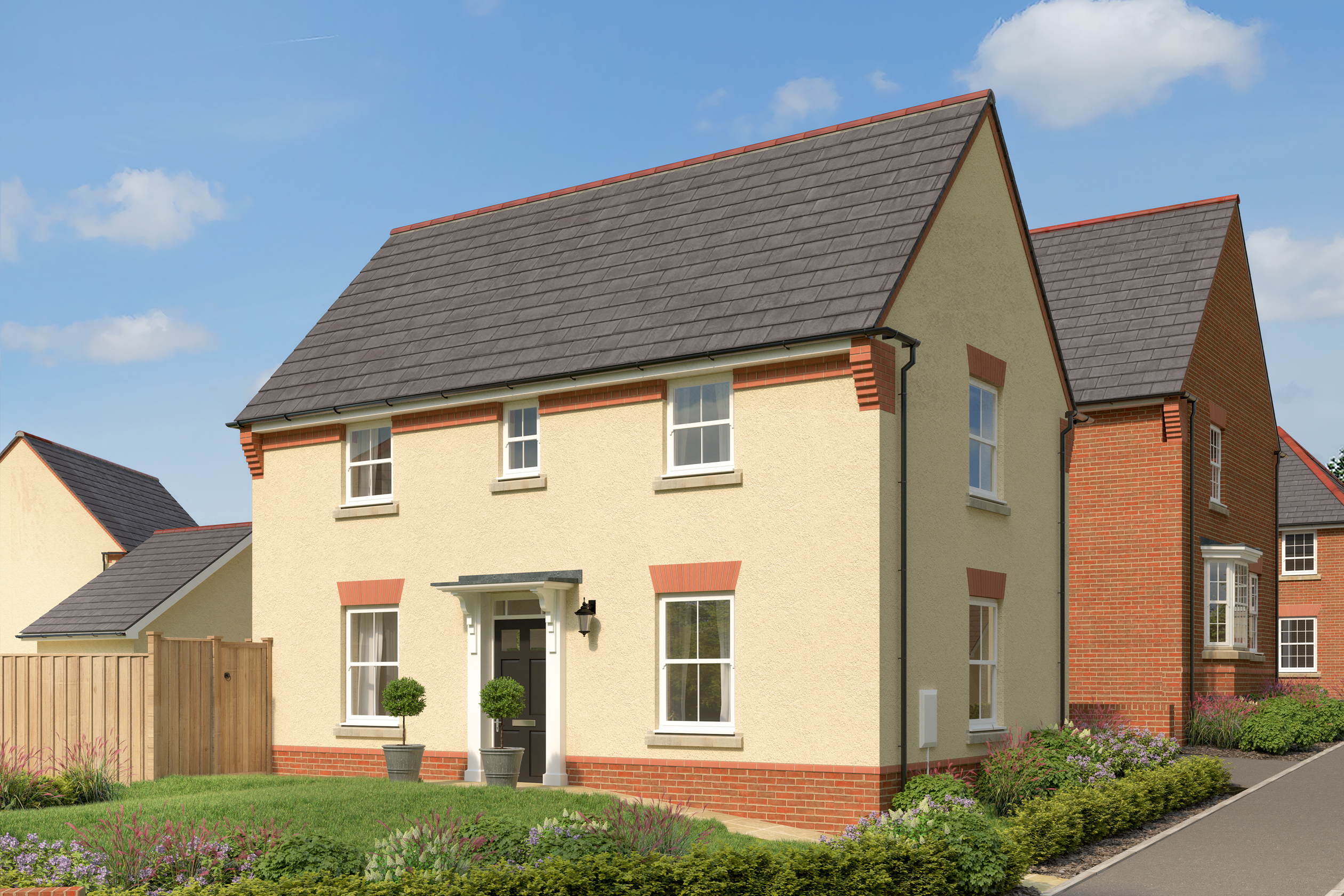 Illustrative image of the front of a Hatton 3 bedroom home