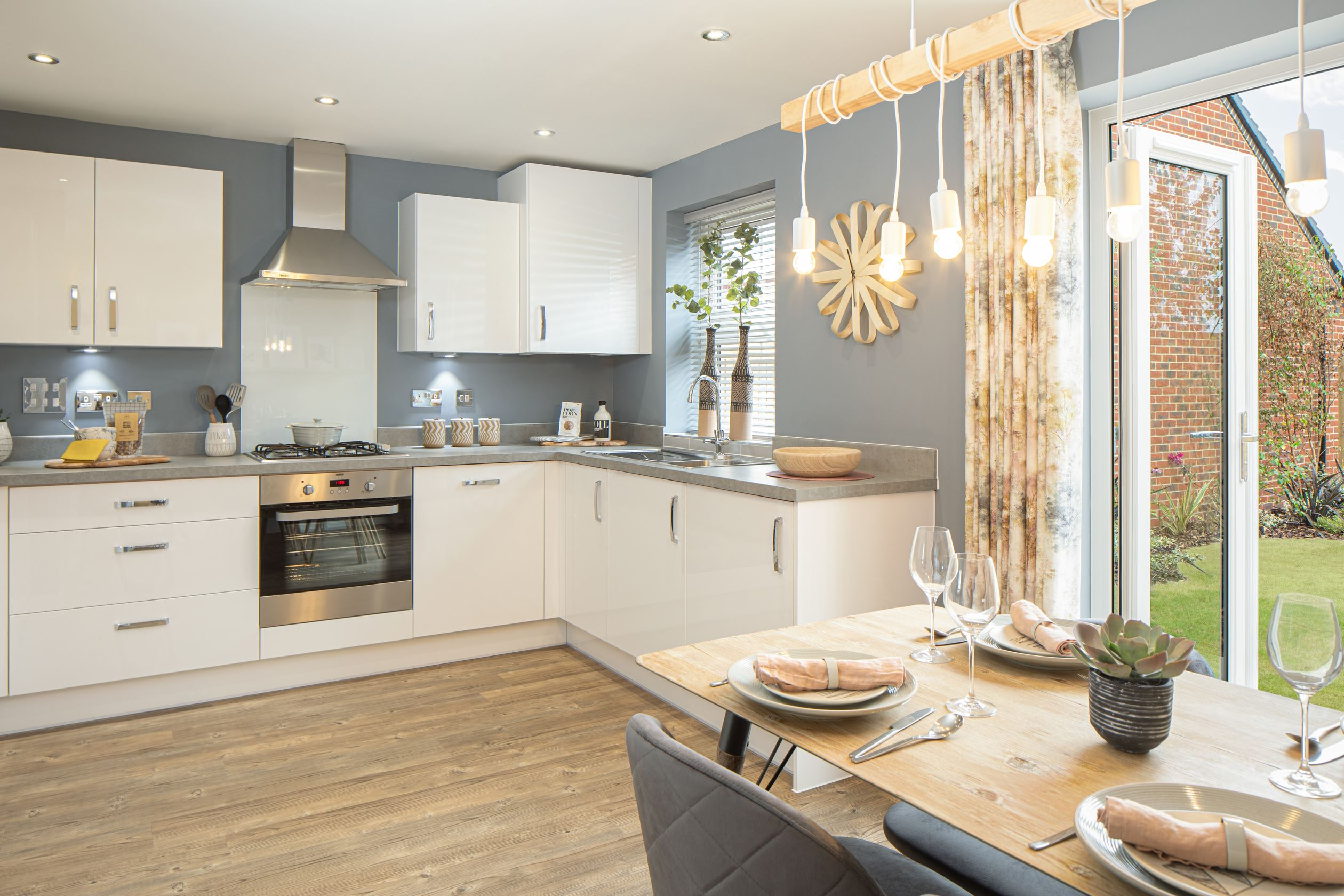 Kitchen / dining area with french doors to the garden of the Archford semi-detached 3 bedroom home