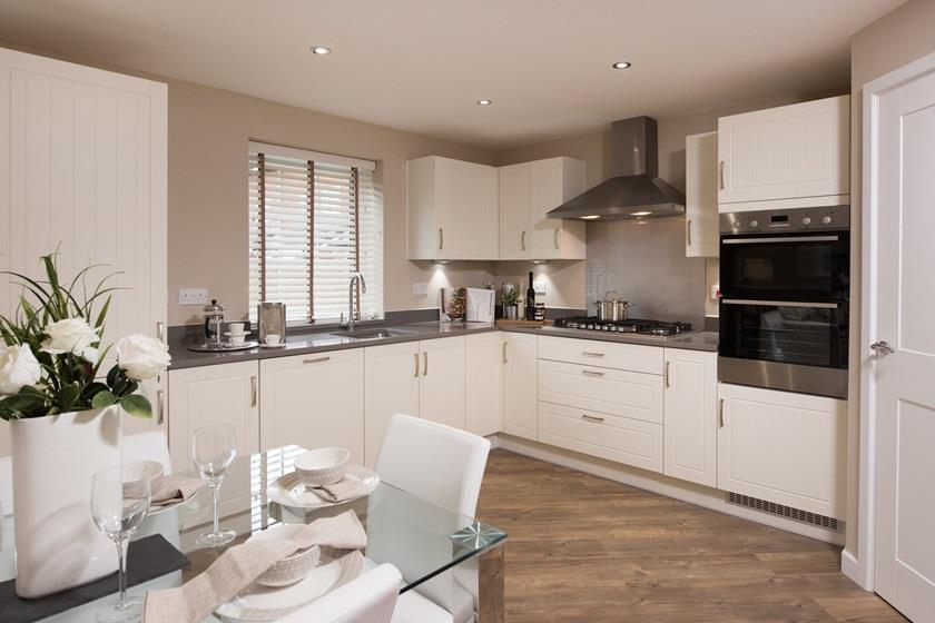 open plan kitchen and dining area the irving, 4 bed