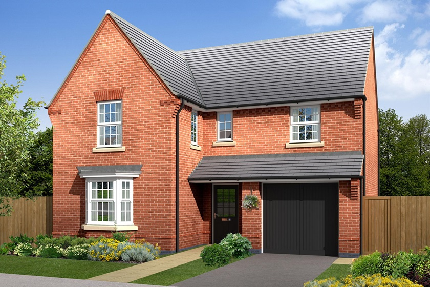 outside view, exeter CGI. 4 bed home
