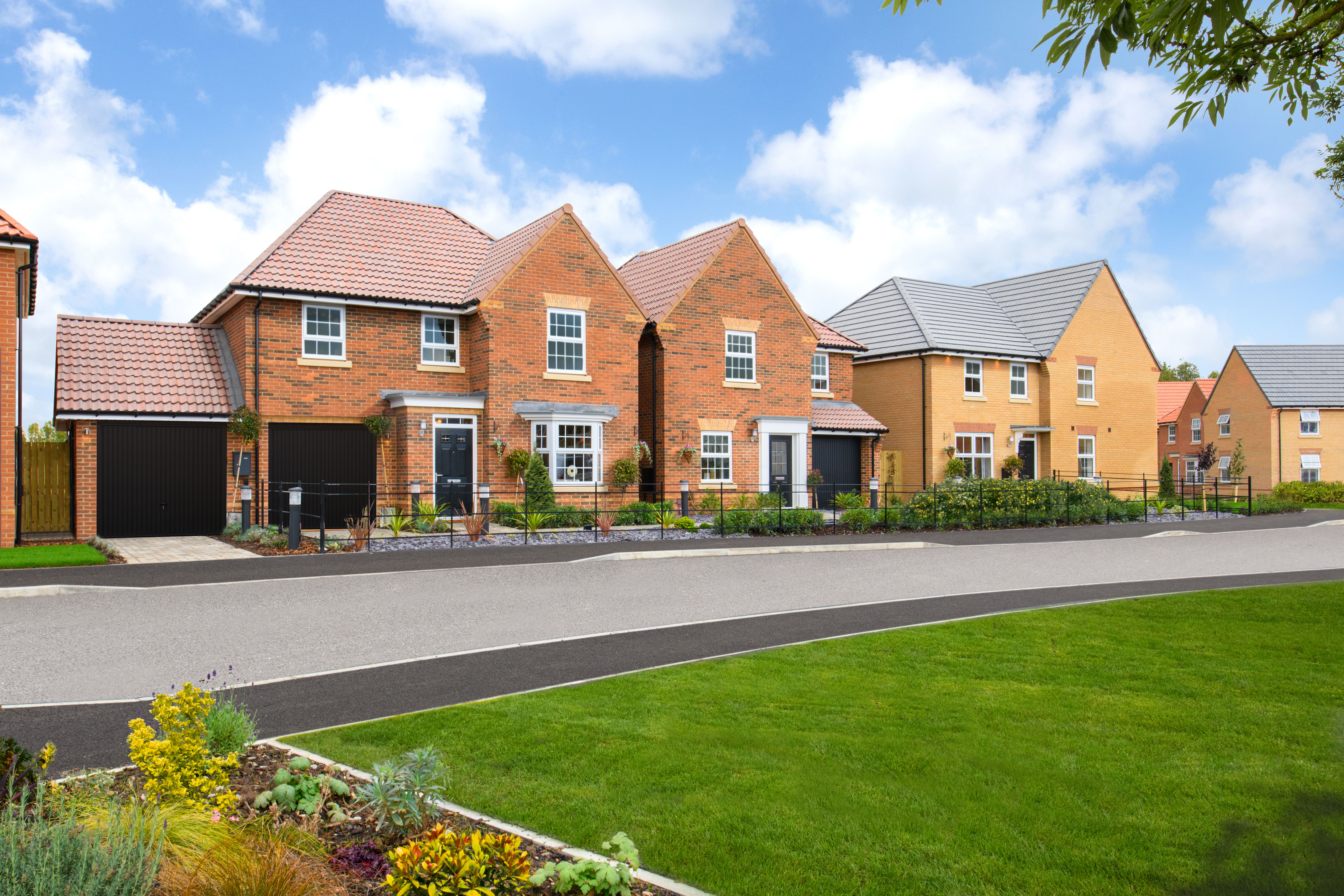 Hesslewood Park Show Homes opposite green open space