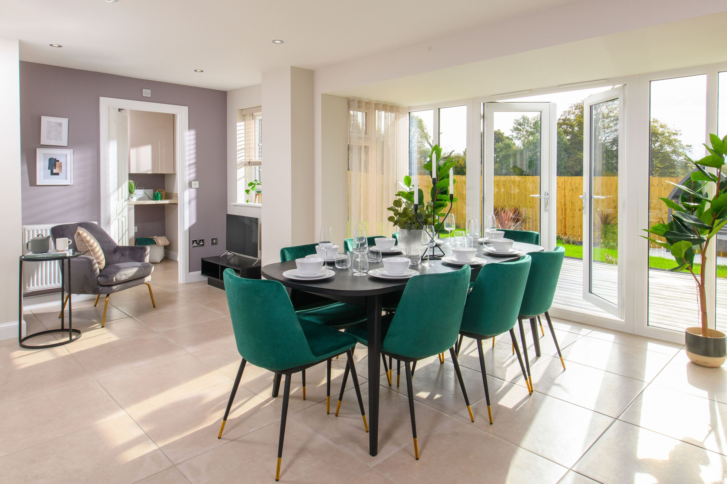 Kitchen diner in The Millford 4 bedroom Show Home