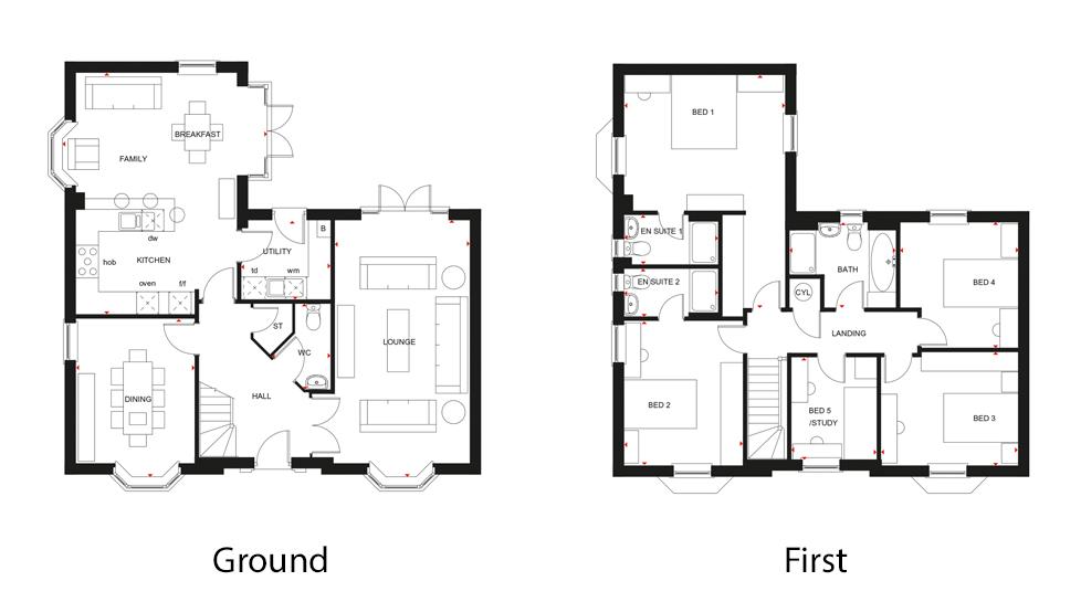 The Henley A Five Bedroom Home David Wilson Homes