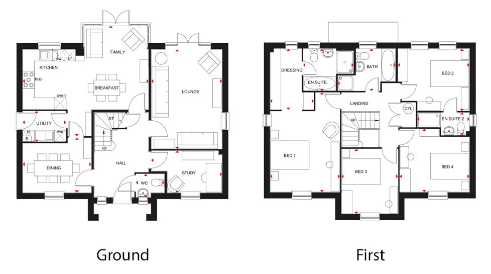The Winstone A 4 Bedroom Home David Wilson Homes