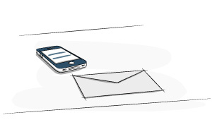 phone and envelope